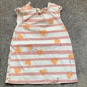 Burberry heart anchor dress 12 months